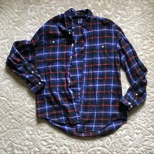 Gap purple flannel